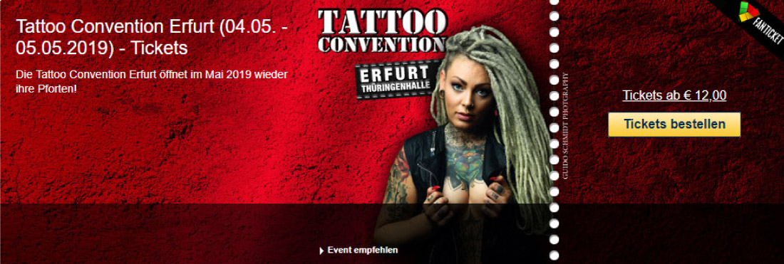 Ticket Tattoo Convention Erfurt 2019